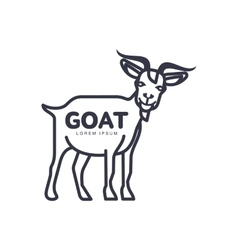 Goat head logo template for meat and dairy vector image vector image