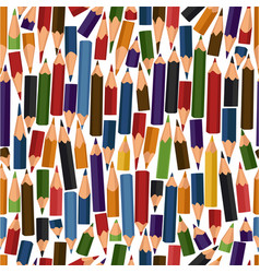 seamless pattern with colour pencils vector image