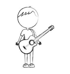 Sketch draw body man cartoon vector