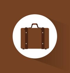 suitcase travel equipment icon vector image
