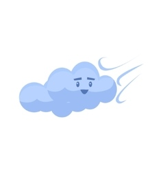 White Cloud Blown Away vector image vector image