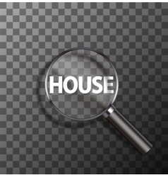 word in magnifying glass vector image