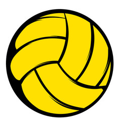 yellow volleyball ball icon icon cartoon vector image