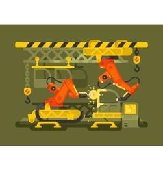Automatic production using robotics vector