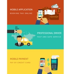 Booking taxi vector image