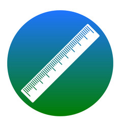 centimeter ruler sign white icon in vector image vector image