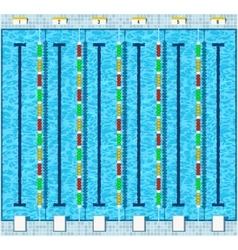 Swimming pool flat vector