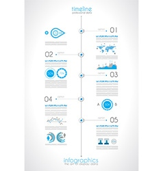 Timeline to display your data in order vector image