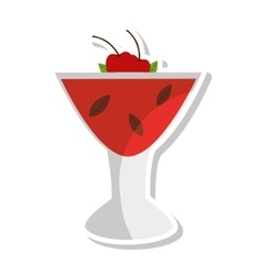 Tropical cocktail cup isolated icon vector