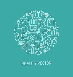 cosmetics2-linear-set1 vector image vector image