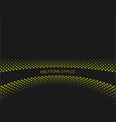 halftone effect title strip with yellow text on vector image