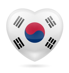 Heart icon of South Korea vector image