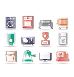 home electronics and equipment icons vector image