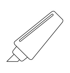 marker write school utensil thin line vector image vector image