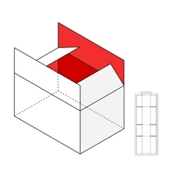 Simple box template vector image