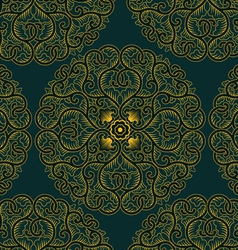 asia circle pattern in retro style vector image