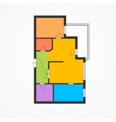 Colorful Flat Plan vector image vector image
