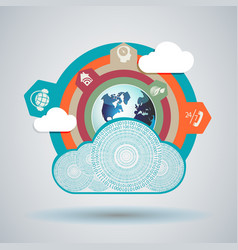 design cloud computer made of numbers vector image vector image
