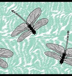Dragonfly seamless background isolated high qualit vector image vector image
