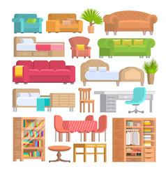 furniture furnishings design of bedroom vector image vector image