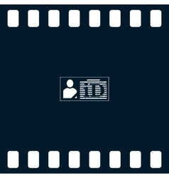 ID card icon vector image vector image