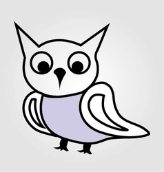 Pretty owl line drawing vector image vector image