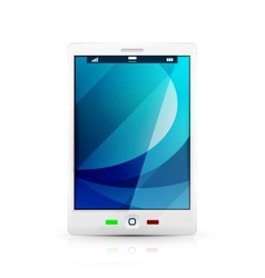 White mobile phone icon vector image