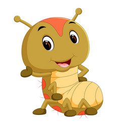 A brown caterpillar cartoon vector