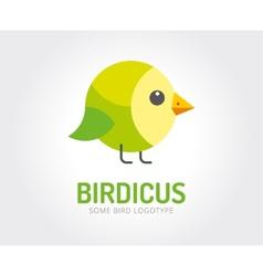 Abstract bird toy logo template vector