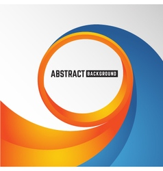 Abstract orange and blue curve circle background vector