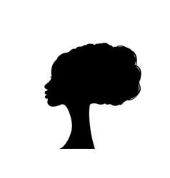 Afro hairstyles portrait beauty woman hair salon vector