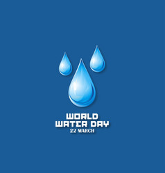 background of world water day vector image