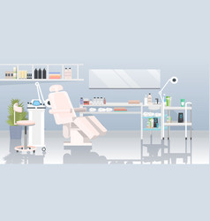 Beautician cabinet with laser epilation machine vector