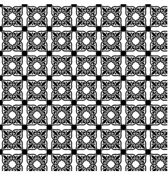 Black and white geometric pattern in moroccan vector