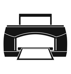 Black paper printer icon simple style vector