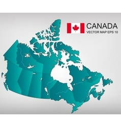 Canada map with provinces all territories vector