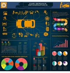 Car service infographics 28 vector