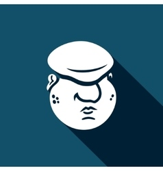 Cartoon immigrant head icon vector image