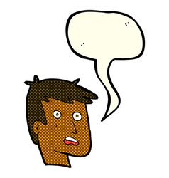 Cartoon unhappy face with speech bubble vector