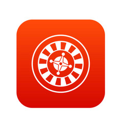 casino gambling roulette icon digital red vector image