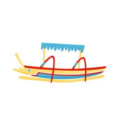 Colorful balinese jukung traditional bali fishing vector