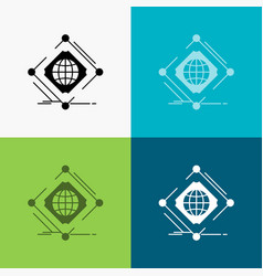 Complex global internet net web icon over various vector