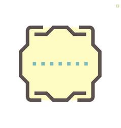 computer chip processor socket cover icon design vector image