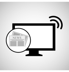 Concept digital news headline icon vector