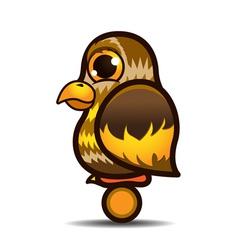 Cute little owl bird catoon vector