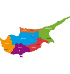 Cyprus map vector