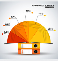 diagram infographics elements vector image