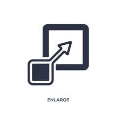Enlarge icon on white background simple element vector