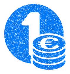 euro coins grunge icon vector image
