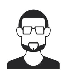 faceless bearded man portrait icon vector image
